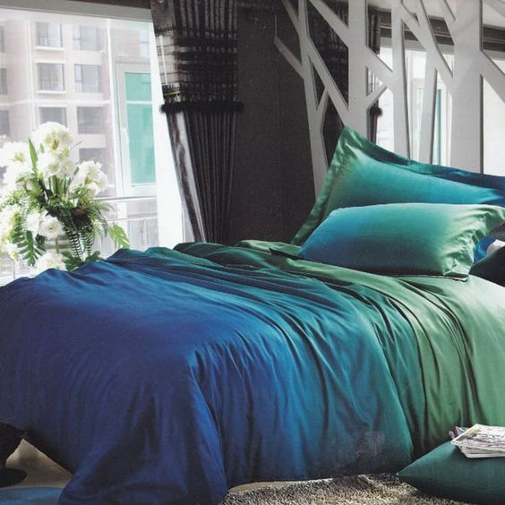 10 Stylish Quilts And Comforters For Your Bedroom -  - home-decor - blue green comforter -