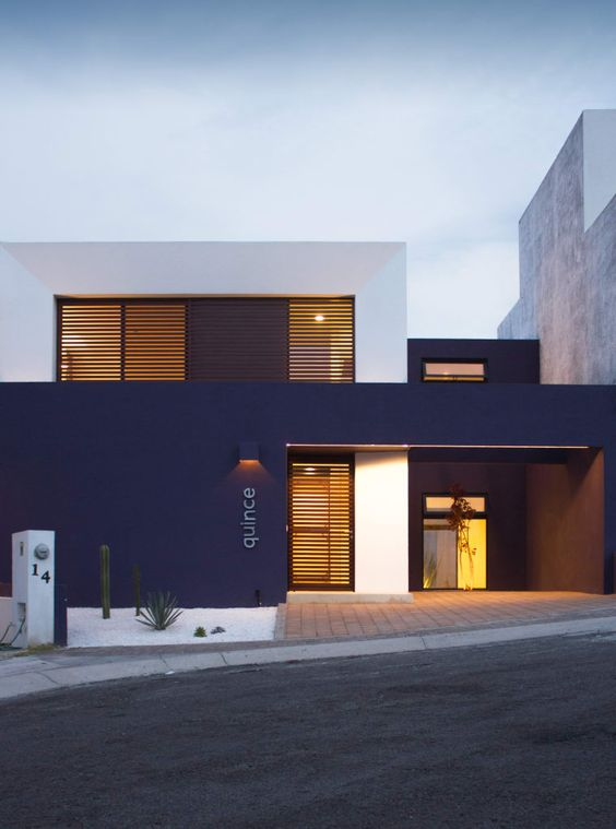 30+ Photos Of Modern Houses In Which You Will Want To Live -  - architecture - dark blue and white modern house -