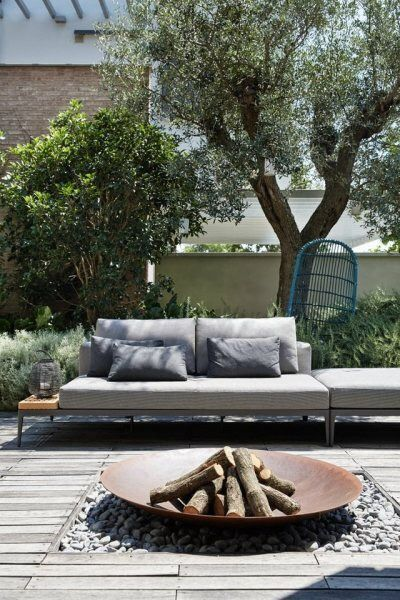 19 Photos Of Simple But Stunning Backyard Designs -  - garden - minimalist fire pit -