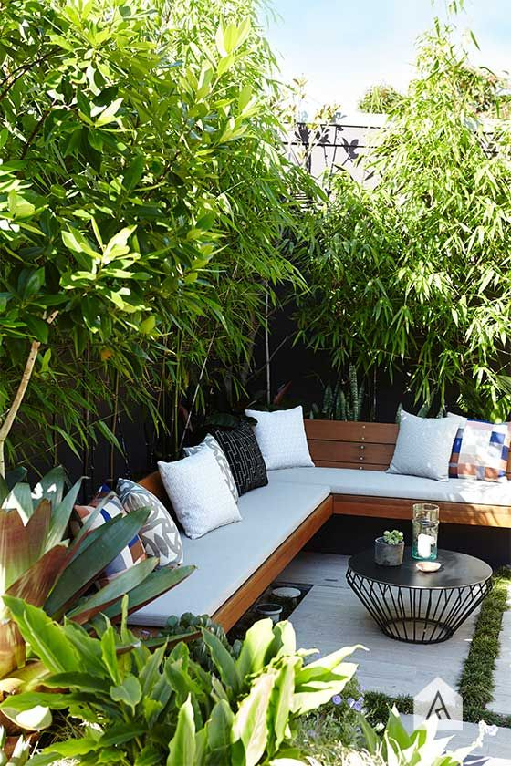 19 Photos Of Simple But Stunning Backyard Designs -  - garden - private small garden seating -