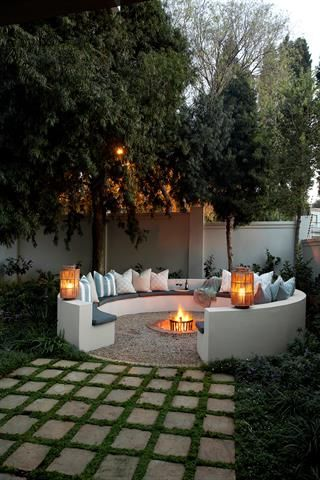 19 Photos Of Simple But Stunning Backyard Designs -  - garden - romantic outdoor seating -