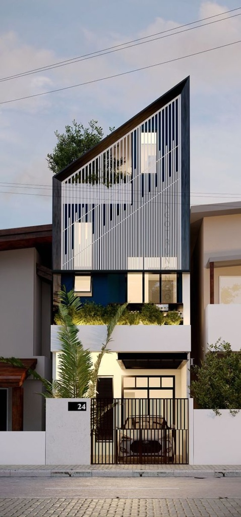 30+ Photos Of Modern Houses In Which You Will Want To Live -  - architecture - tall sharp modern house 478x1024 -