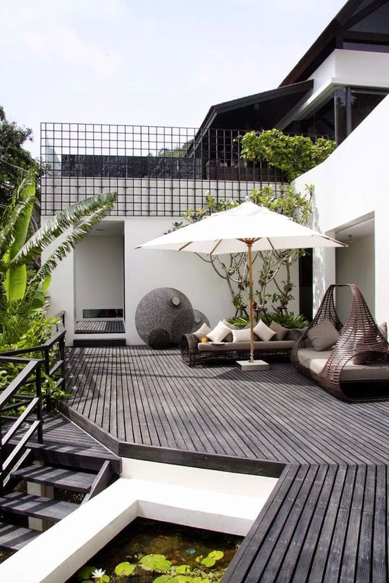 19 Photos Of Simple But Stunning Backyard Designs -  - garden - tropical garden seating -