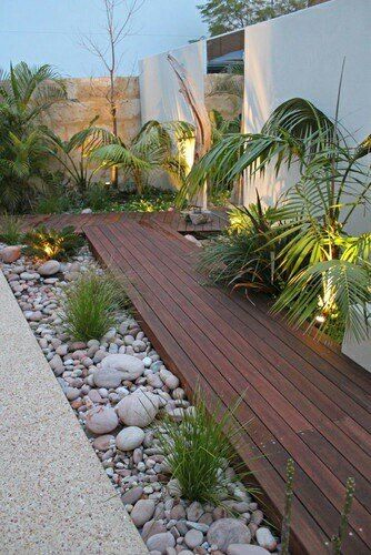 19 Photos Of Simple But Stunning Backyard Designs -  - garden - wooden garden path -
