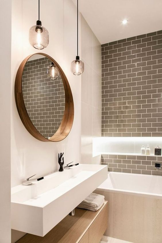 29+ Best Inspirations How To Style Bathroom Mirror -  - interior-design - bathroom vanity mirror inspiration idea round framed lights rectangle frameless large rustic 11 -