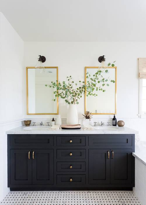 29+ Best Inspirations How To Style Bathroom Mirror -  - interior-design - bathroom vanity mirror inspiration idea round framed lights rectangle frameless large rustic 14 -