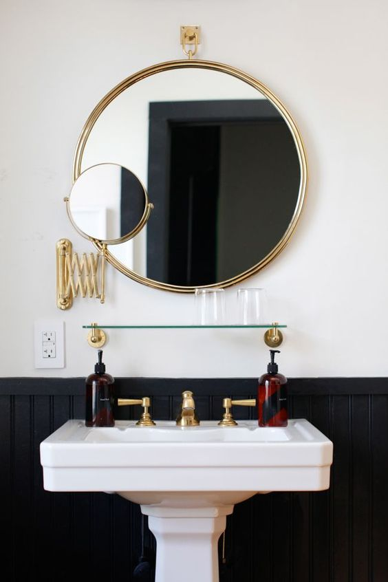 29+ Best Inspirations How To Style Bathroom Mirror -  - interior-design - bathroom vanity mirror inspiration idea round framed lights rectangle frameless large rustic 2 -
