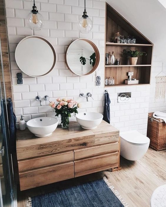 29+ Best Inspirations How To Style Bathroom Mirror -  - interior-design - bathroom vanity mirror inspiration idea round framed lights rectangle frameless large rustic 20 -