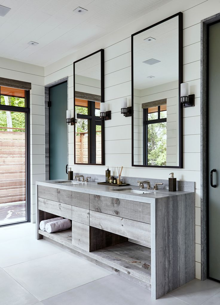 29+ Best Inspirations How To Style Bathroom Mirror -  - interior-design - bathroom vanity mirror inspiration idea round framed lights rectangle frameless large rustic 22 -