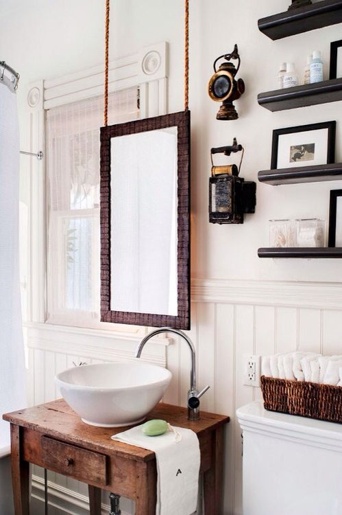 29+ Best Inspirations How To Style Bathroom Mirror -  - interior-design - bathroom vanity mirror inspiration idea round framed lights rectangle frameless large rustic 23 -