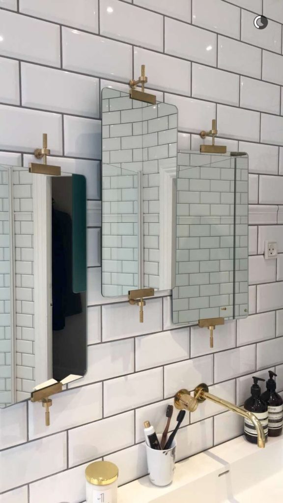 29+ Best Inspirations How To Style Bathroom Mirror -  - interior-design - bathroom vanity mirror inspiration idea round framed lights rectangle frameless large rustic 27 576x1024 -