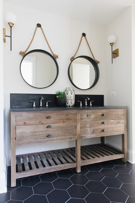 29+ Best Inspirations How To Style Bathroom Mirror -  - interior-design - bathroom vanity mirror inspiration idea round framed lights rectangle frameless large rustic 6 -