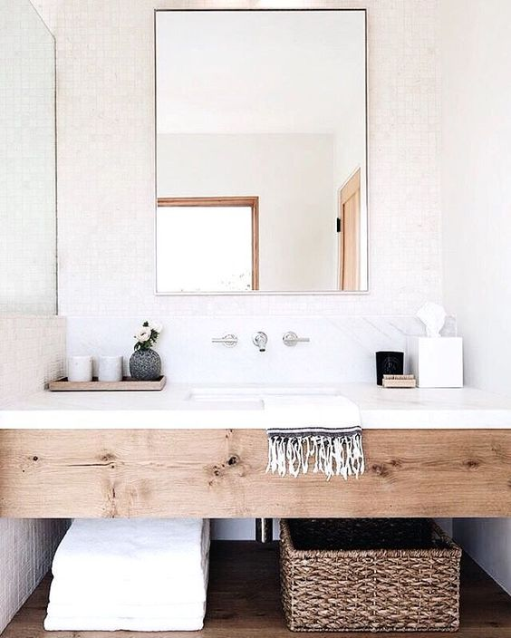 29+ Best Inspirations How To Style Bathroom Mirror -  - interior-design - bathroom vanity mirror inspiration idea round framed lights rectangle frameless large rustic 7 -
