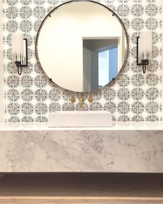 29+ Best Inspirations How To Style Bathroom Mirror -  - interior-design - bathroom vanity mirror inspiration idea round framed lights rectangle frameless large rustic 9 -