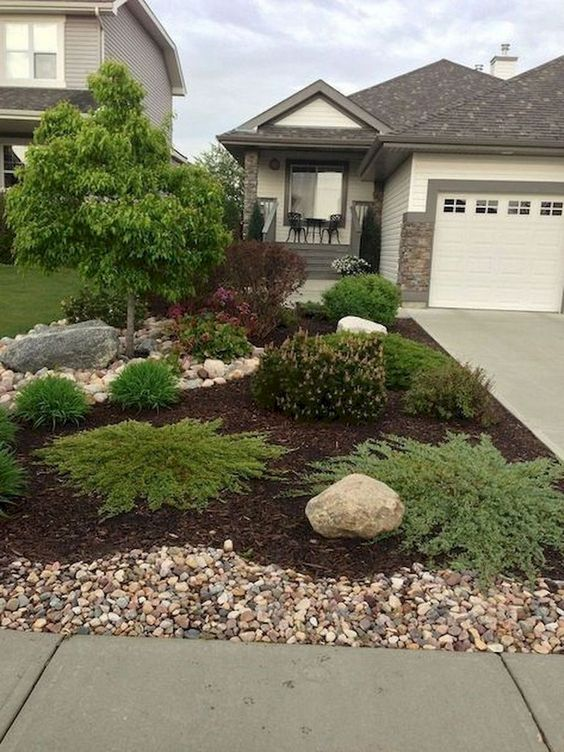 31 Simple Landscaping Ideas How To Decor Your Front Yard -  - garden - Simple Landscaping Idea For Decorating Front Yard front of the house small front yard plants makeover modern porch 3 -