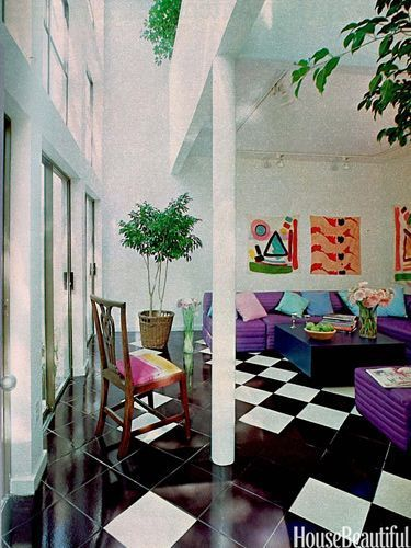 '80s Interiors - This Is How Interior Design Looked Like In The Past (Postmodern Gallery) -  - interior-design - 80s interior design living room space home decor colour neon lights pink blue 10 -