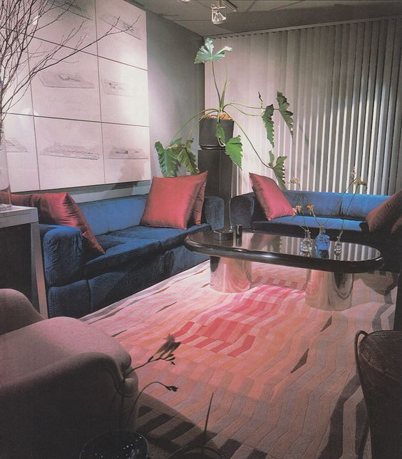 '80s Interiors - This Is How Interior Design Looked Like In The Past -  - interior-design - 80s interior design living room space home decor colour neon lights pink blue 18 -