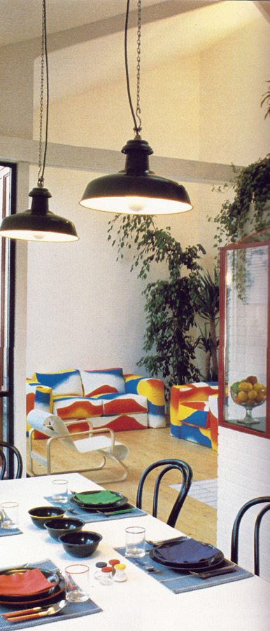 '80s Interiors - This Is How Interior Design Looked Like In The Past (Postmodern Gallery) -  - interior-design - 80s interior design living room space home decor colour neon lights pink blue 36 -