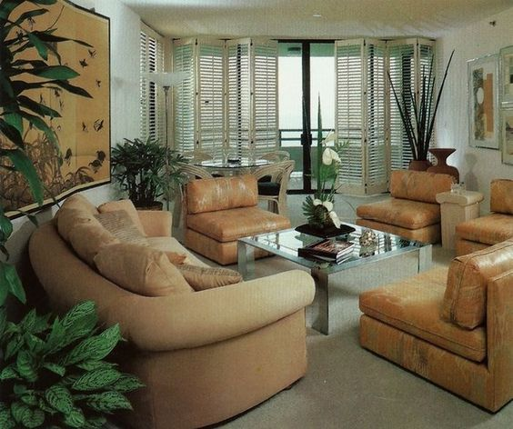 '80s Interiors - This Is How Interior Design Looked Like In The Past (Postmodern Gallery) -  - interior-design - 80s interior design living room space home decor colour neon lights pink blue 5 -