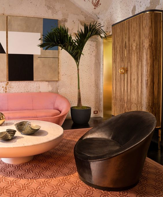 '80s Interiors - This Is How Interior Design Looked Like In The Past (Postmodern Gallery) -  - interior-design - 80s interior design living room space home decor colour neon lights pink blue 7 -