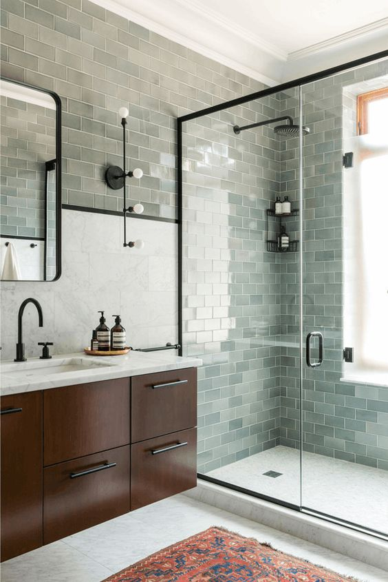35 Incredible Bathroom Wall & Floor Tile Designs -  - interior-design - Bathroom tiles floor wall modern ideas white moroccan vintage 14 -