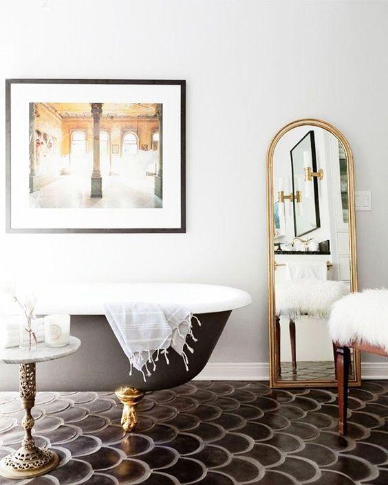35 Incredible Bathroom Wall & Floor Tile Designs -  - interior-design - Bathroom tiles floor wall modern ideas white moroccan vintage 15 -