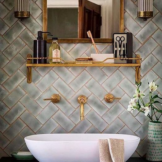35 Incredible Bathroom Wall & Floor Tile Designs -  - interior-design - Bathroom tiles floor wall modern ideas white moroccan vintage 25 -