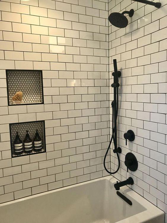 35 Incredible Bathroom Wall & Floor Tile Designs -  - interior-design - Bathroom tiles floor wall modern ideas white moroccan vintage 32 -