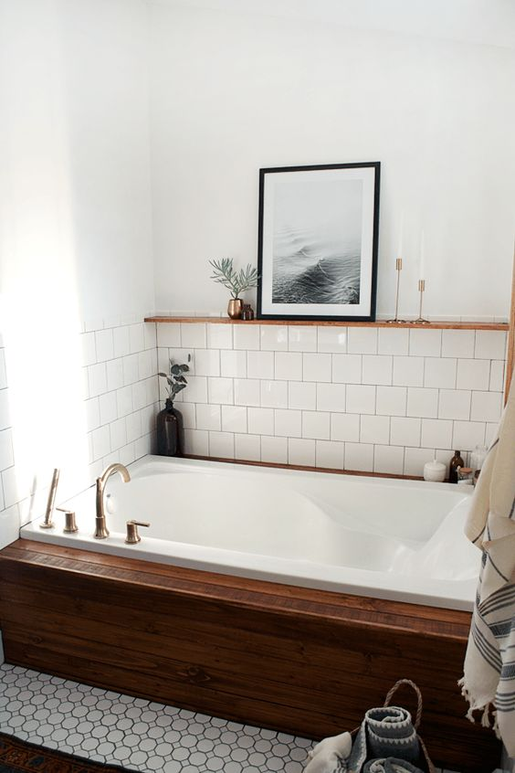 35 Incredible Bathroom Wall & Floor Tile Designs -  - interior-design - Bathroom tiles floor wall modern ideas white moroccan vintage 6 -