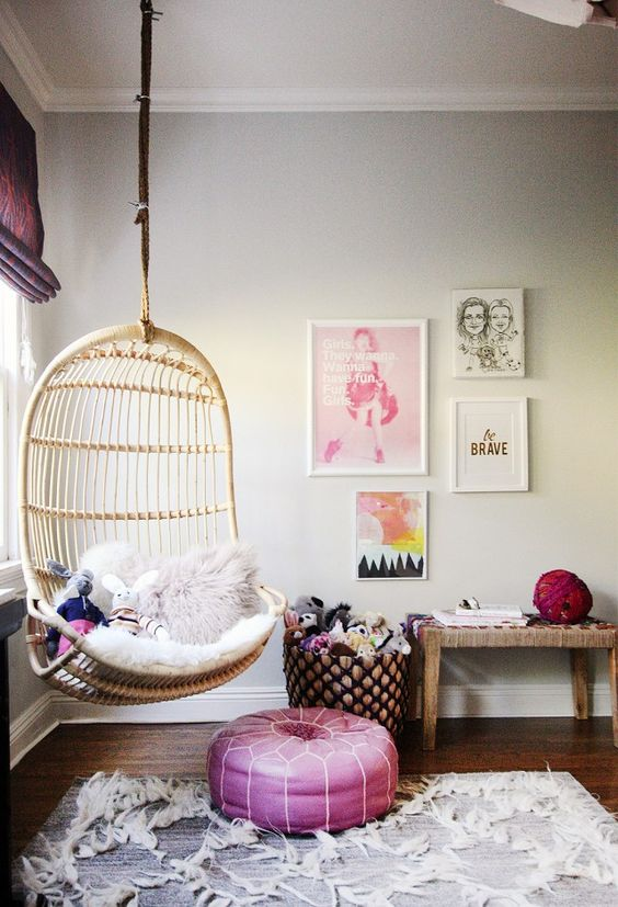 5 Reasons Why Hanging Chair Is Great For Your Bedroom -  - interior-design - hanging chair in bedroom indoor boho scandinavian modern 11 -