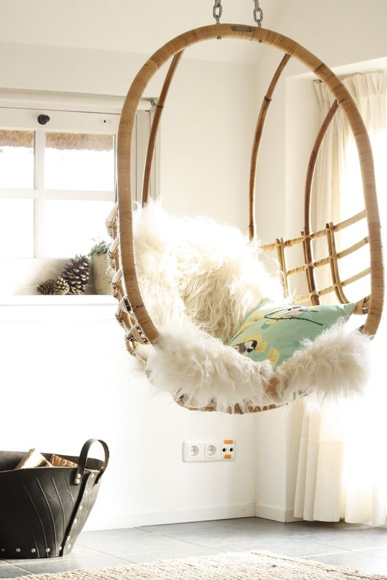 5 Reasons Why Hanging Chair Is Great For Your Bedroom -  - interior-design - hanging chair in bedroom indoor boho scandinavian modern 12 -