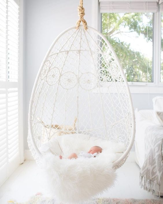 5 Reasons Why Hanging Chair Is Great For Your Bedroom -  - interior-design - hanging chair in bedroom indoor boho scandinavian modern 17 -