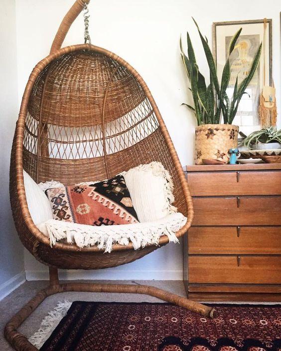 Blog -  -  - hanging chair in bedroom indoor boho scandinavian modern 20 -