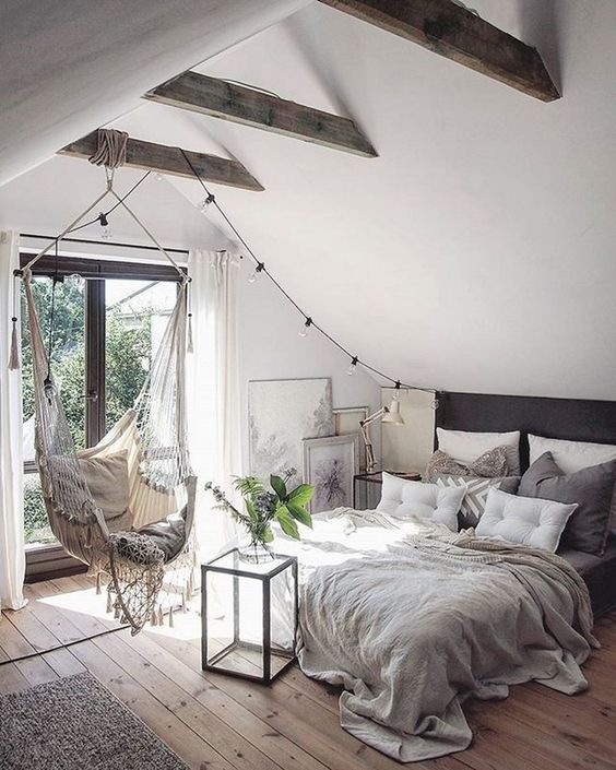 5 Reasons Why Hanging Chair Is Great For Your Bedroom -  - interior-design - hanging chair in bedroom indoor boho scandinavian modern 21 -