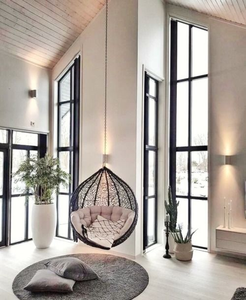 5 Reasons Why Hanging Chair Is Great For Your Bedroom -  - interior-design - hanging chair in bedroom indoor boho scandinavian modern 23 -