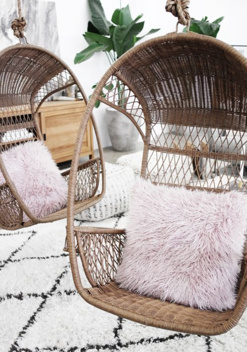 5 Reasons Why Hanging Chair Is Great For Your Bedroom -  - interior-design - hanging chair in bedroom indoor boho scandinavian modern 24 -