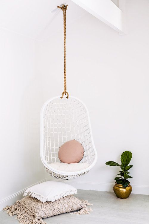 5 Reasons Why Hanging Chair Is Great For Your Bedroom -  - interior-design - hanging chair in bedroom indoor boho scandinavian modern 28 -