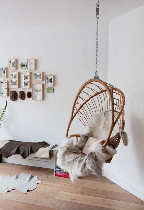5 Reasons Why Hanging Chair Is Great For Your Bedroom -  - interior-design - hanging chair in bedroom indoor boho scandinavian modern 32 -