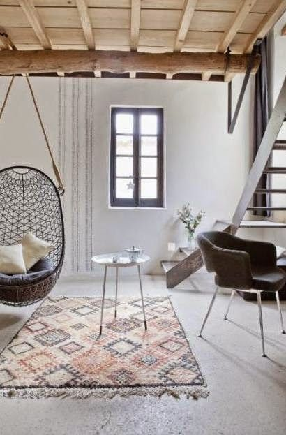 5 Reasons Why Hanging Chair Is Great For Your Bedroom -  - interior-design - hanging chair in bedroom indoor boho scandinavian modern 6 -