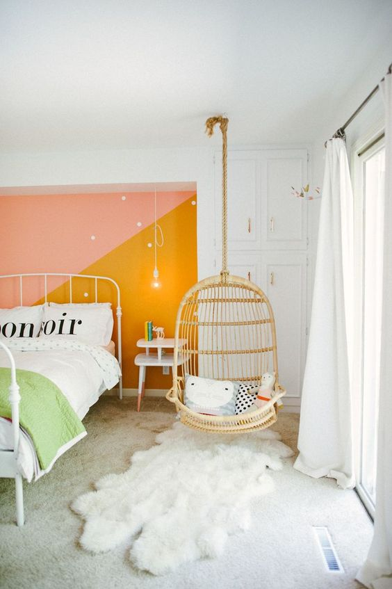 5 Reasons Why Hanging Chair Is Great For Your Bedroom -  - interior-design - hanging chair in bedroom indoor boho scandinavian modern 7 -