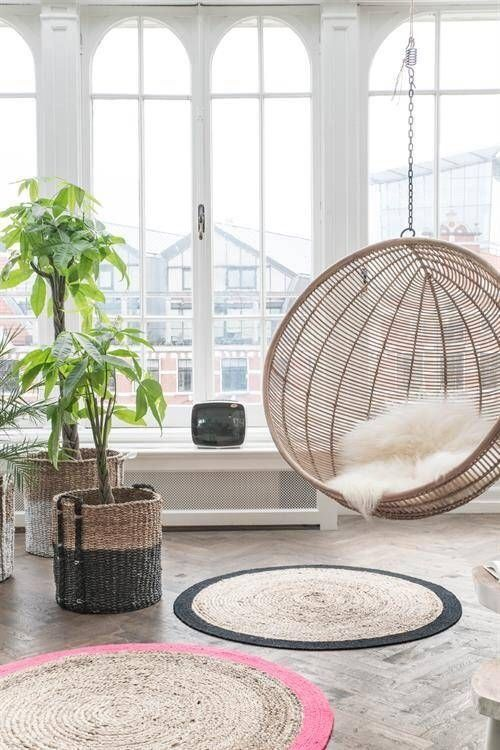 5 Reasons Why Hanging Chair Is Great For Your Bedroom -  - interior-design - hanging chair in bedroom indoor boho scandinavian modern 9 -