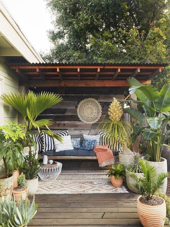5 Practical Decor Tips & 39 Ideas For Small Backyard -  - garden - Small backyard ideas and tips simple patio with pool and narrow paths 13 -