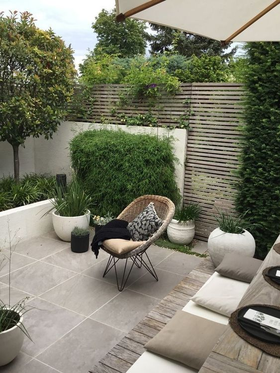5 Practical Decor Tips & 39 Ideas For Small Backyard -  - garden - Small backyard ideas and tips simple patio with pool and narrow paths 15 -