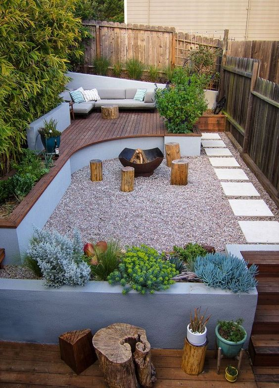 5 Practical Decor Tips & 39 Ideas For Small Backyard -  - garden - Small backyard ideas and tips simple patio with pool and narrow paths 18 -