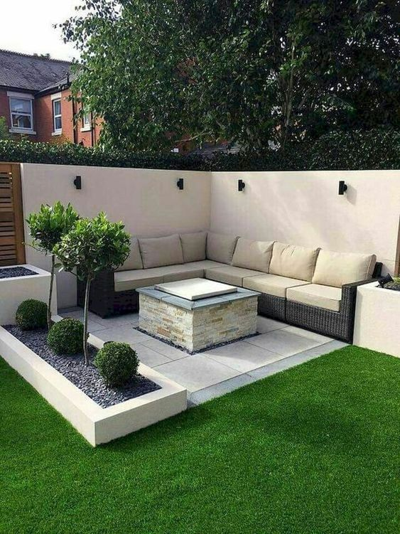 5 Practical Decor Tips & 39 Ideas For Small Backyard -  - garden - Small backyard ideas and tips simple patio with pool and narrow paths 20 -