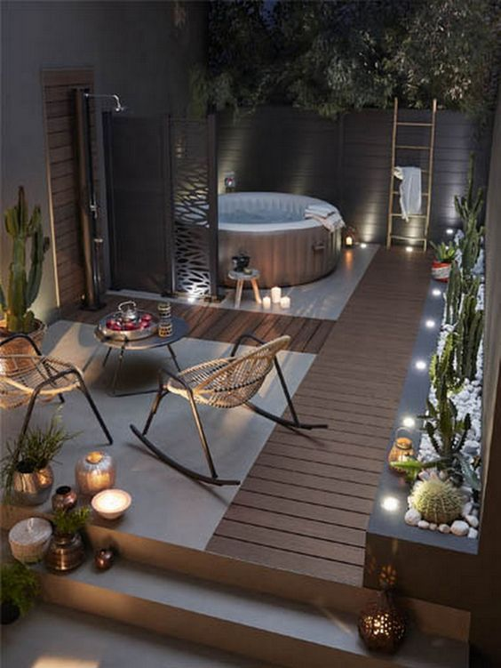 5 Practical Decor Tips & 39 Ideas For Small Backyard -  - garden - Small backyard ideas and tips simple patio with pool and narrow paths 21 -