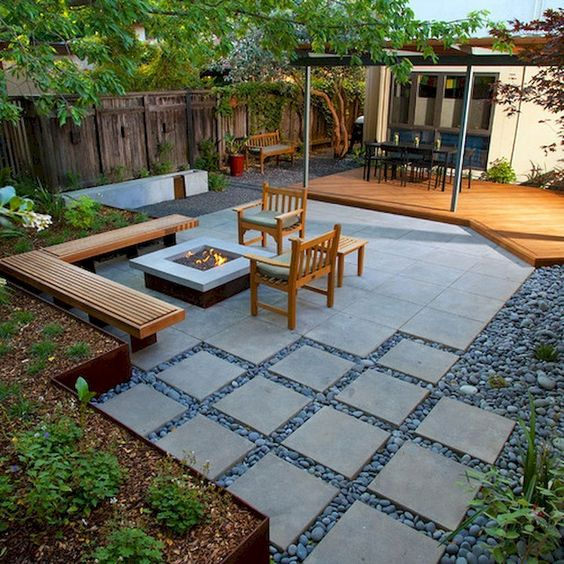 5 Practical Decor Tips & 39 Ideas For Small Backyard -  - garden - Small backyard ideas and tips simple patio with pool and narrow paths 24 -