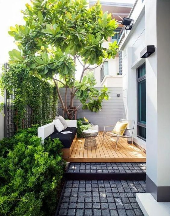 5 Practical Decor Tips & 39 Ideas For Small Backyard -  - garden - Small backyard ideas and tips simple patio with pool and narrow paths 25 -