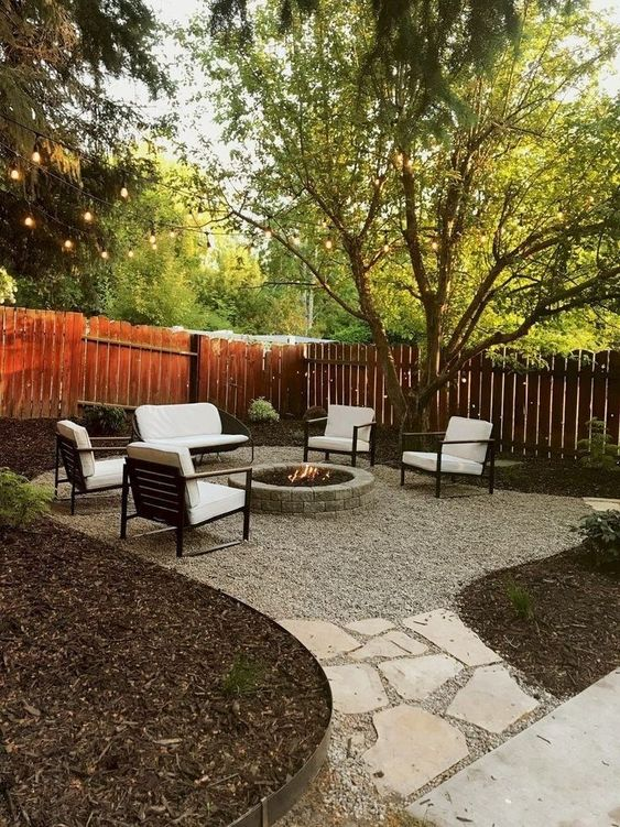 5 Practical Decor Tips & 39 Ideas For Small Backyard -  - garden - Small backyard ideas and tips simple patio with pool and narrow paths 3 -