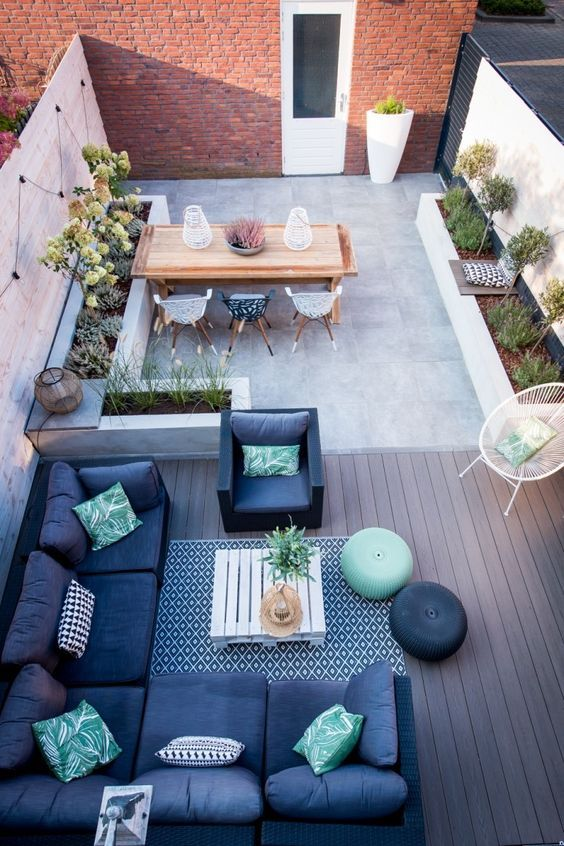 5 Practical Decor Tips & 39 Ideas For Small Backyard -  - garden - Small backyard ideas and tips simple patio with pool and narrow paths 31 -